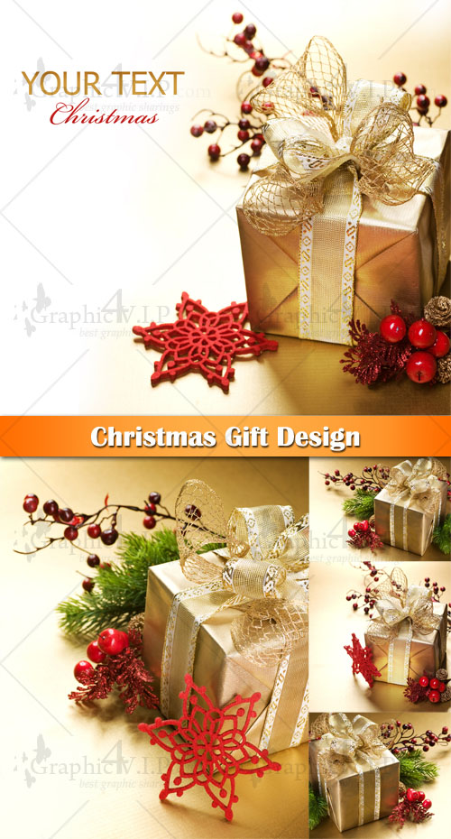 Christmas Gift Design - Stock Photos