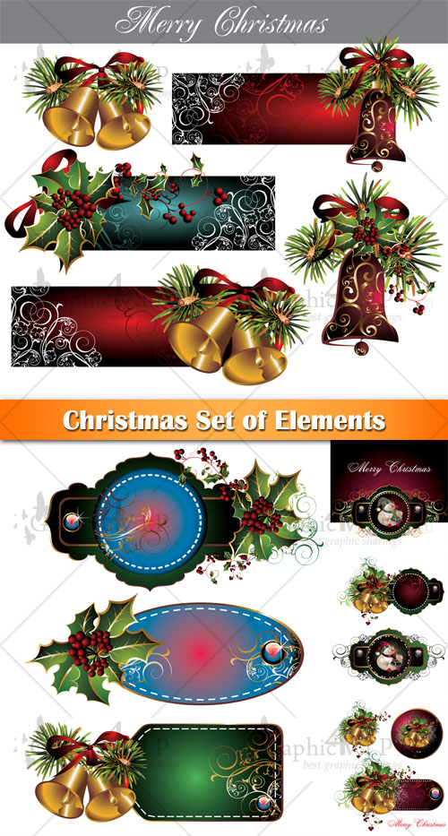 Christmas Set of Elements - Stock Vectors
