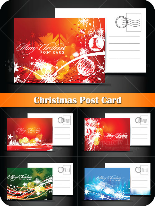 Christmas Post Cards - Stock Vectors
