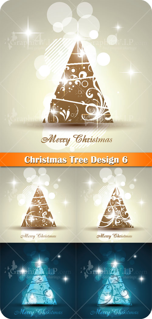 Christmas Tree Design 6 - Stock Vectors