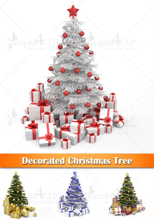 Decorated Christmas Tree - Stock Photos