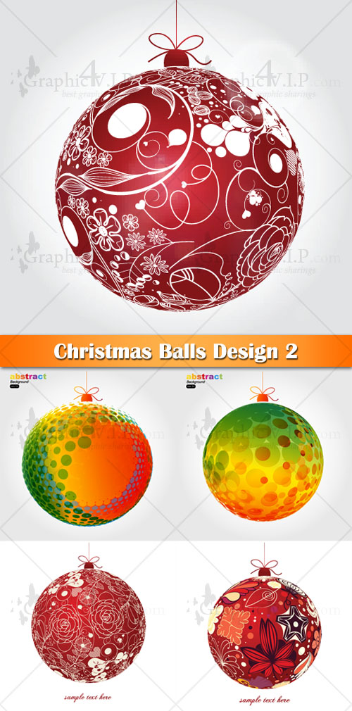 Christmas Balls Design 2 - Stock Vectors