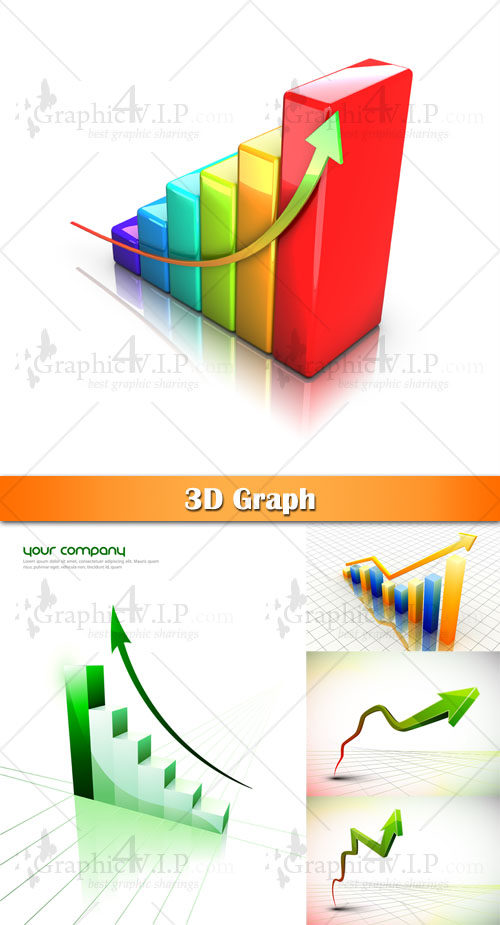 3D Graph - Stock Photos