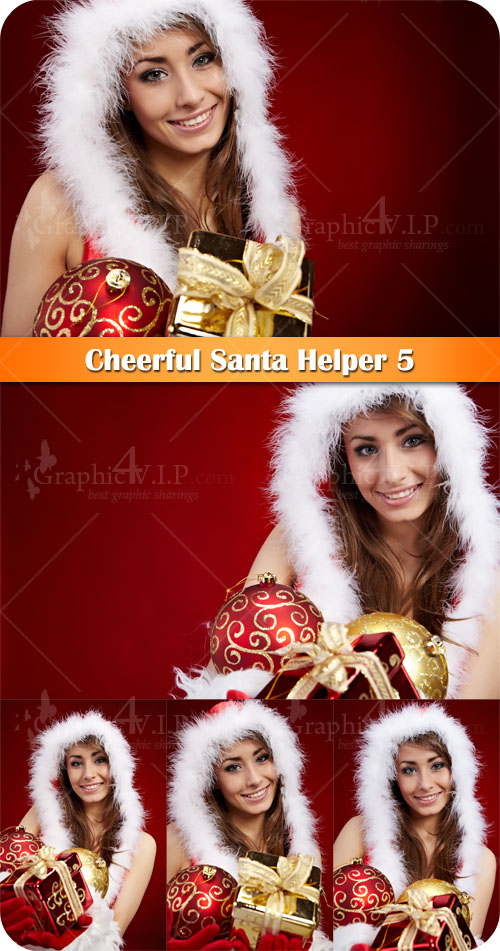Cheerful Santa Helper 5 - Stock Photos