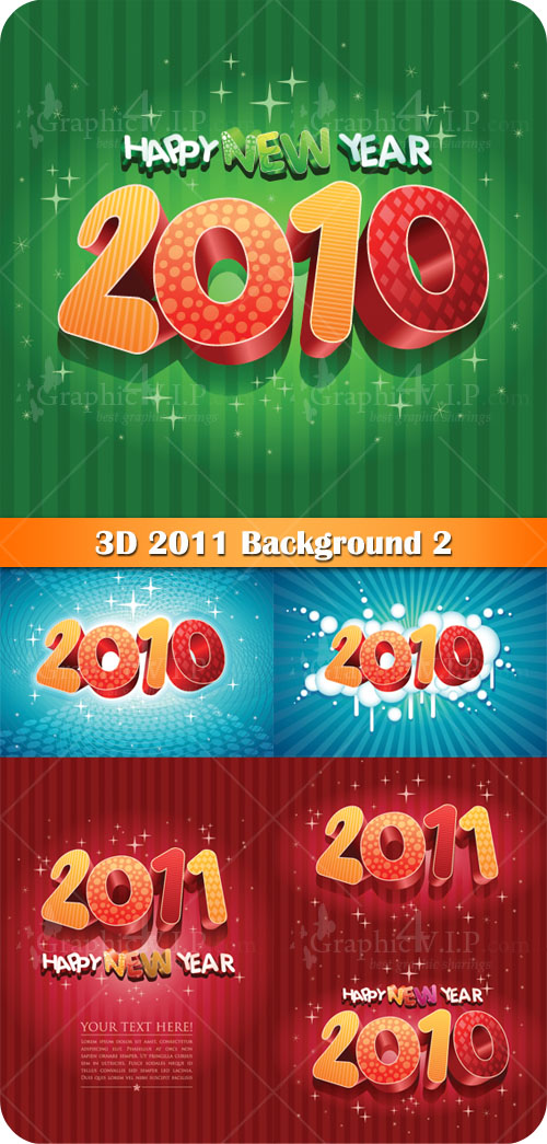 3D 2011 Background 2 - Stock Vectors