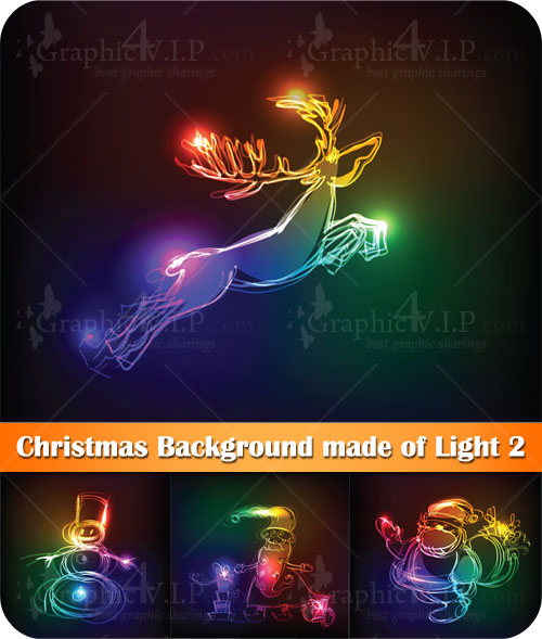 Christmas Background made of Light 2 - Stock Vectors