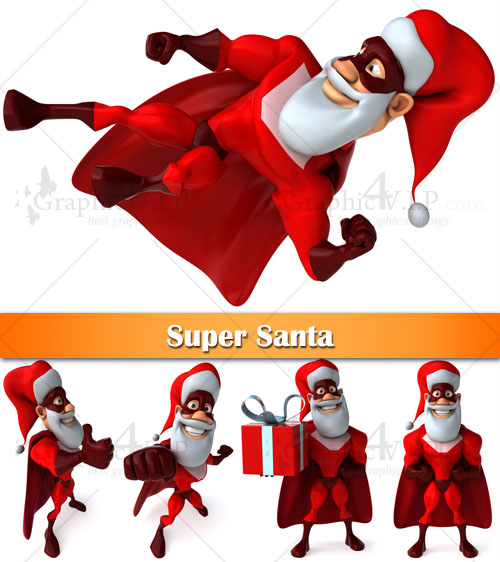 Super Santa - Stock Images