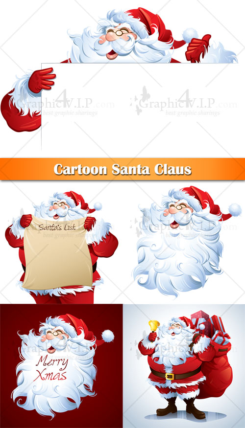 Cartoon Santa Claus - Stock Vectors