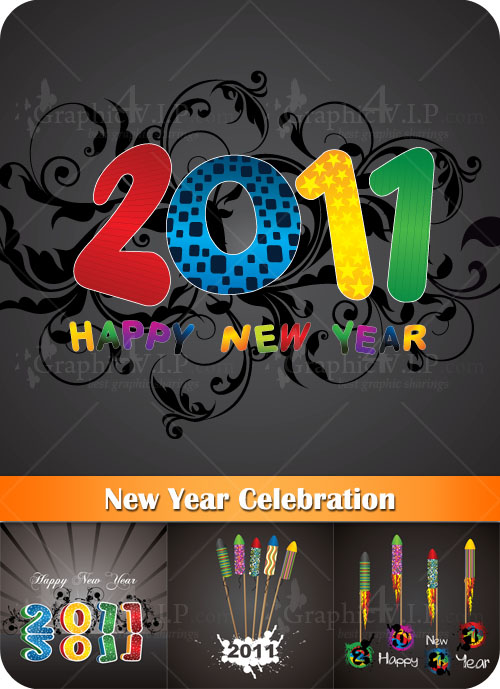 New Year Celebration - Stock Vectors