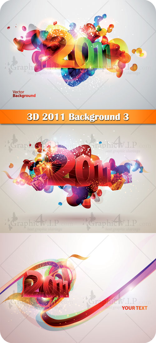 3D 2011 Background 3 - Stock Vectors