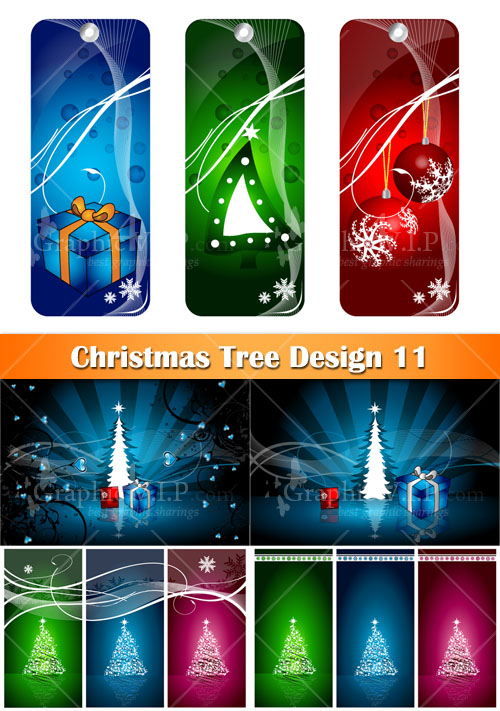Christmas Tree Design 11 - Stock Vectors