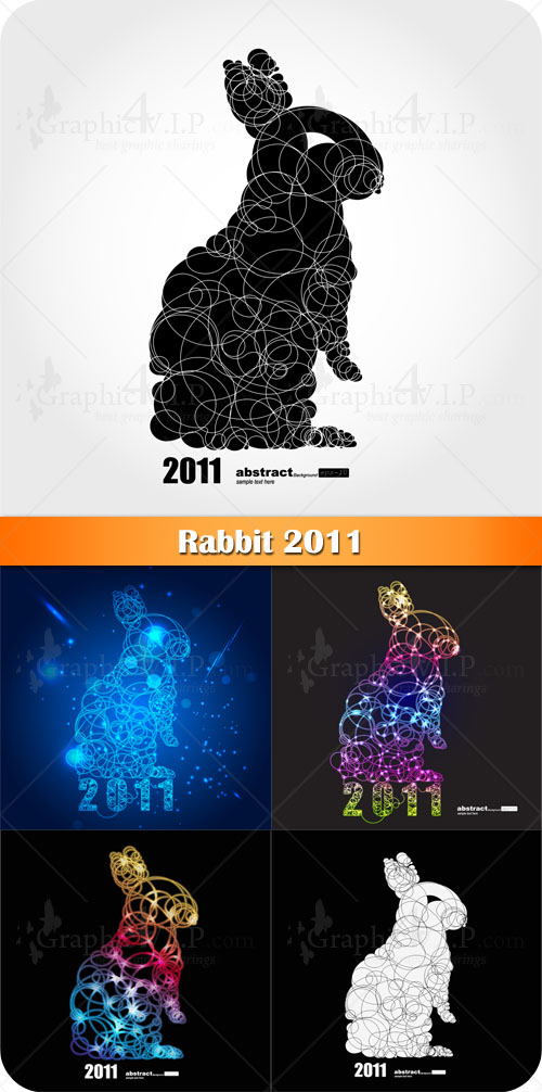 Rabbit 2011 - Stock Vectors