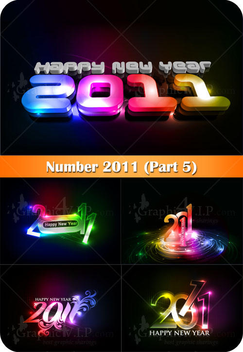 Number 2011 (Part 5) - Stock Vectors