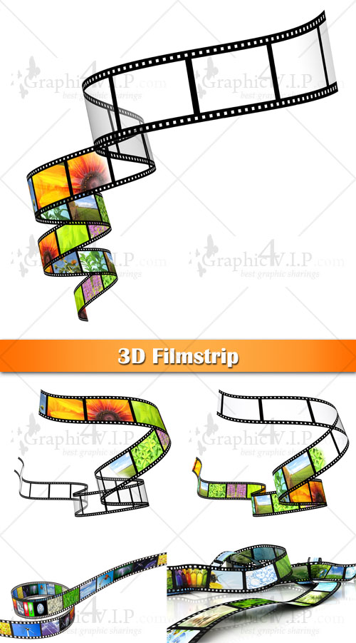 3D Filmstrip - Stock Photos