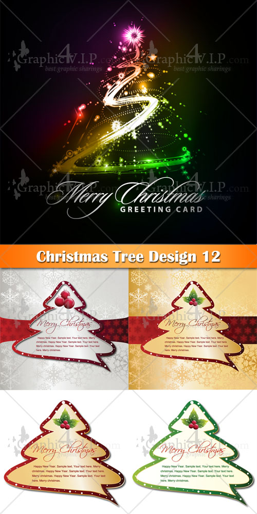 Christmas Tree Design 12 - Stock Vectors