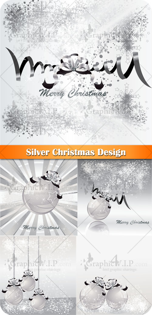 Silver Christmas Design - Stock Vectors