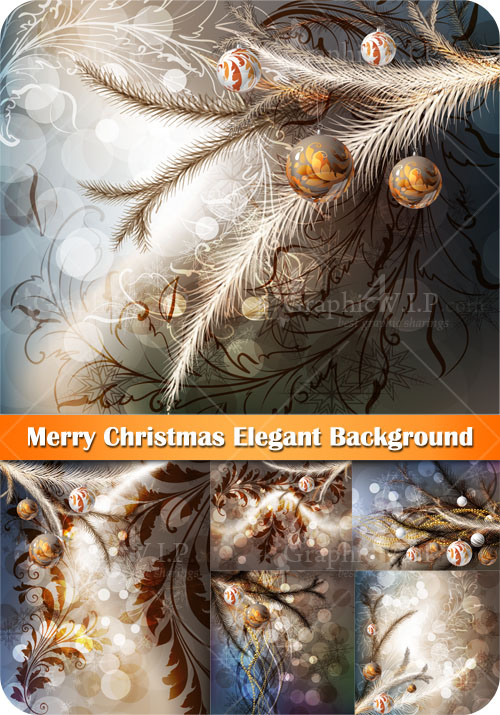 Merry Christmas Elegant Background - Stock Vectors