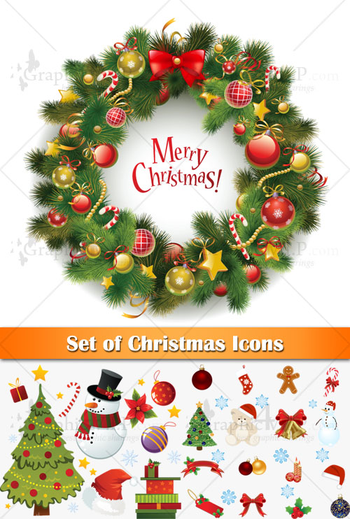 Set of Christmas Icons - Stock Vectors