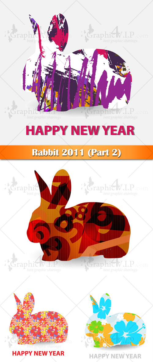 Rabbit 2011 (Part 2) - Stock Vectors