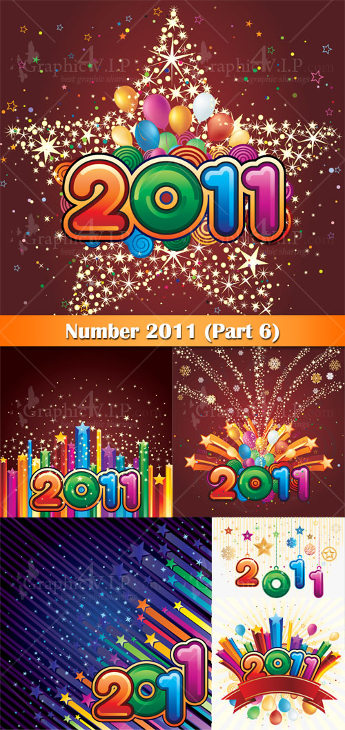 Number 2011 (Part 6) - Stock Vectors
