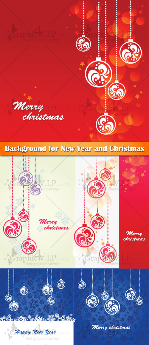 Background for New Year and Christmas - Stock Vectors