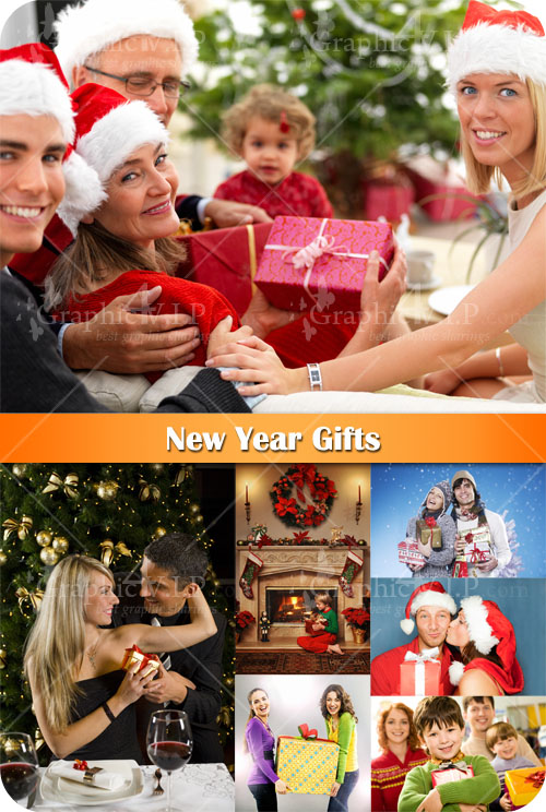New Year Gifts - Stock Photos