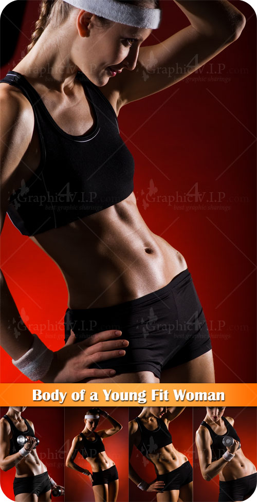 Body of a Young Fit Woman - Stock Photos