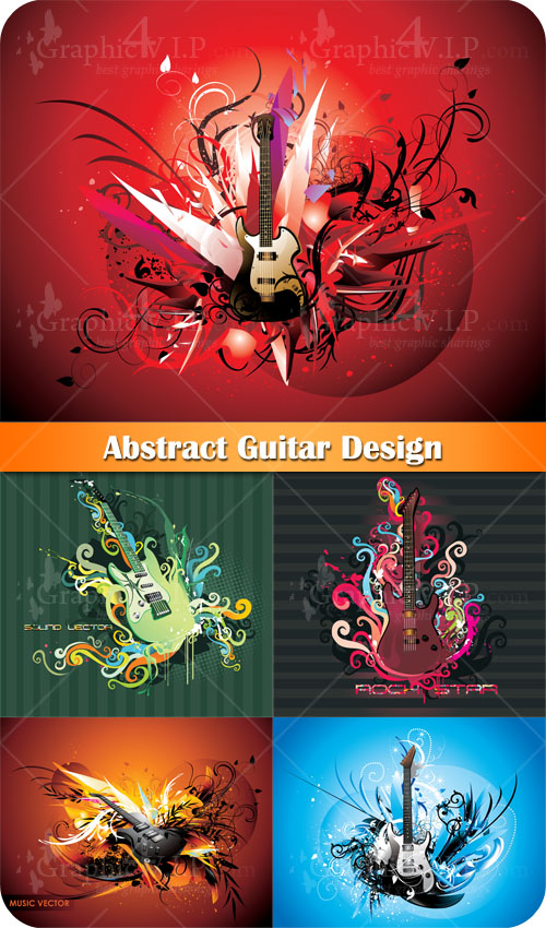 Abstract Guitar Design - Stock Vectors