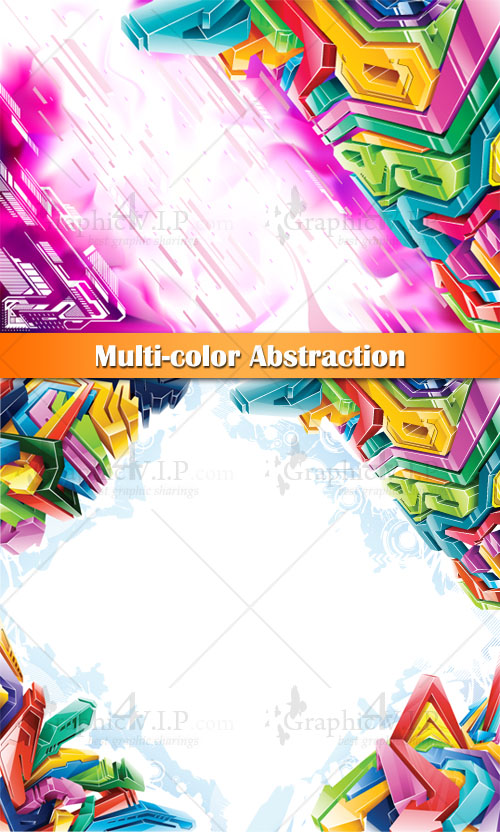 Multi-color Abstraction - Stock Vectors