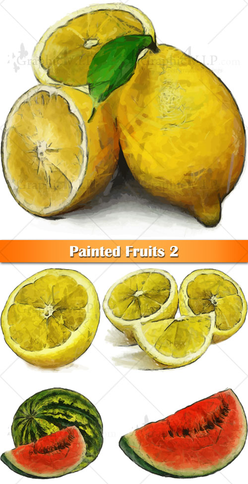 Painted Fruits 2 - Stock Vectors