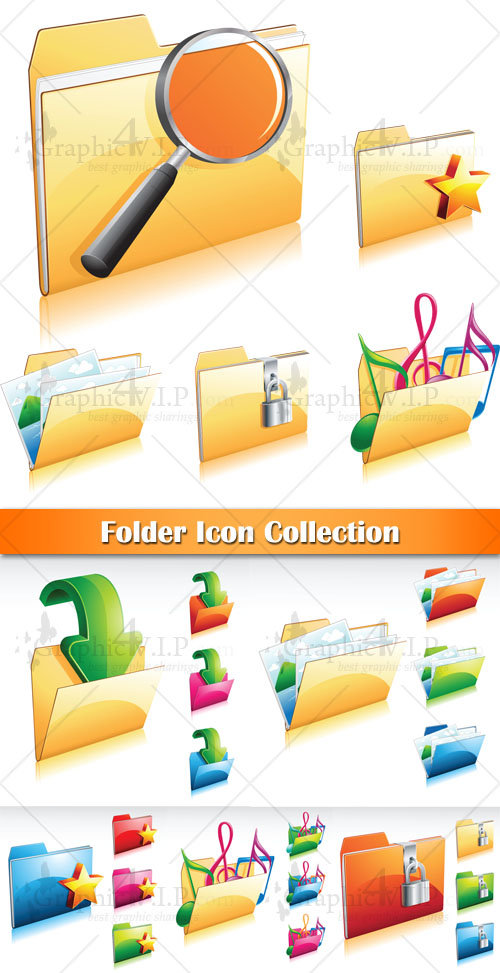 Folder Icon Collection - Stock Vectors