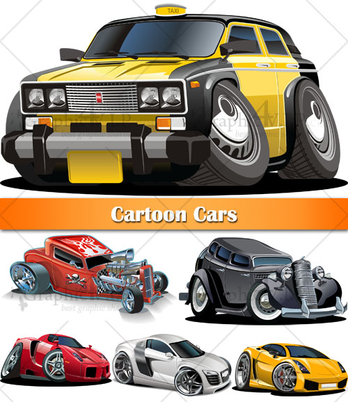 Cartoon Cars - Stock Vectors