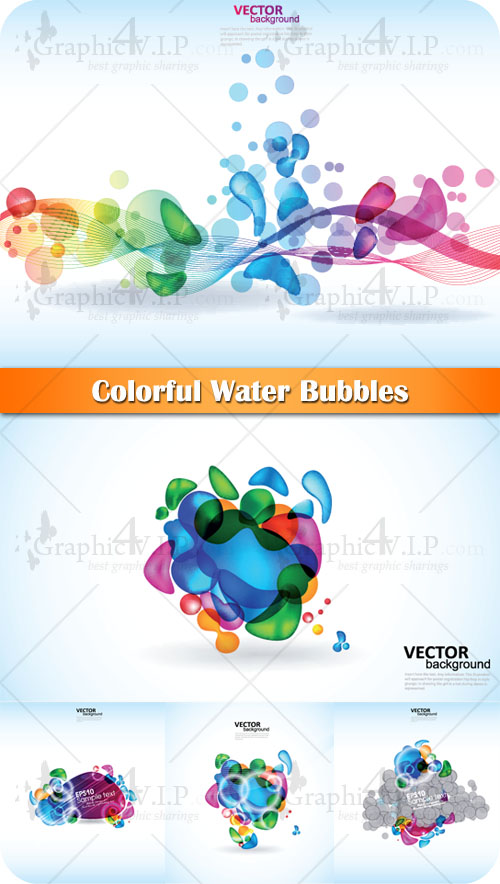 Colorful Water Bubbles - Stock Vectors