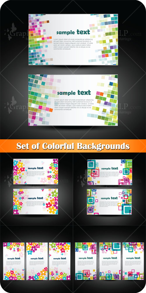 Set of Colorful Backgrounds - Stock Vectors