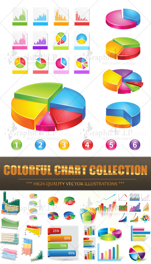 Colorful Chart Collection - Stock Vectors