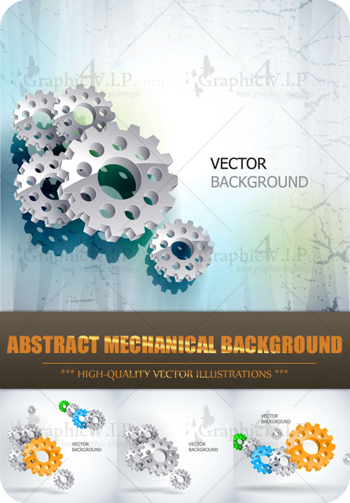 Abstract Mechanical Background - Stock Vectors