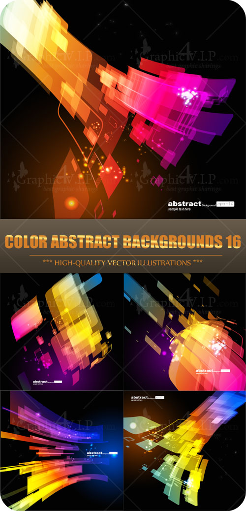 Color Abstract Backgrounds 16 - Stock Vectors