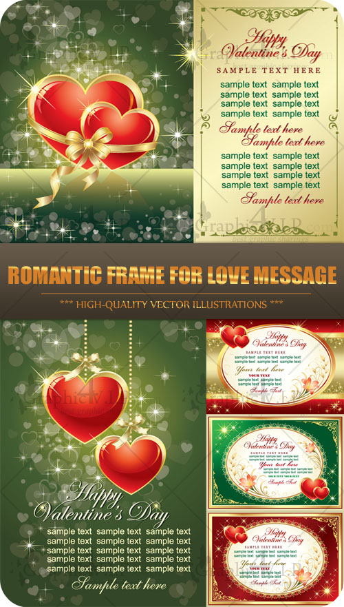 Romantic Frame for Love Message - Stock Vectors