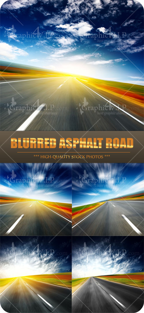 Blurred Asphalt Road - Stock Photos