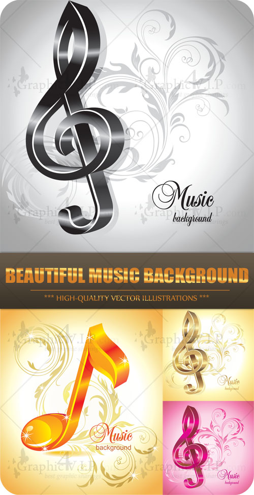Beautiful Music Background - Stock Vectors