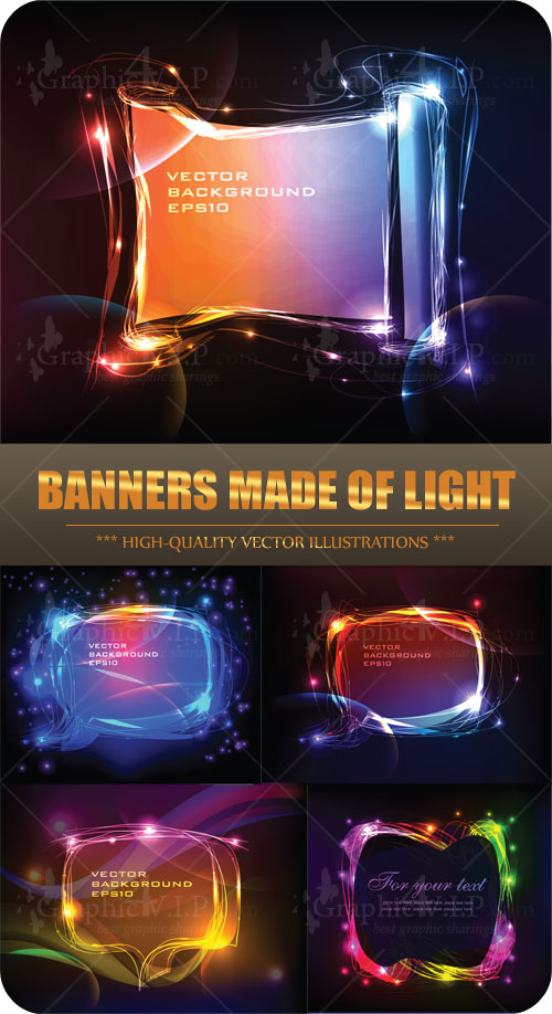 Banners Made of Light - Stock Vectors