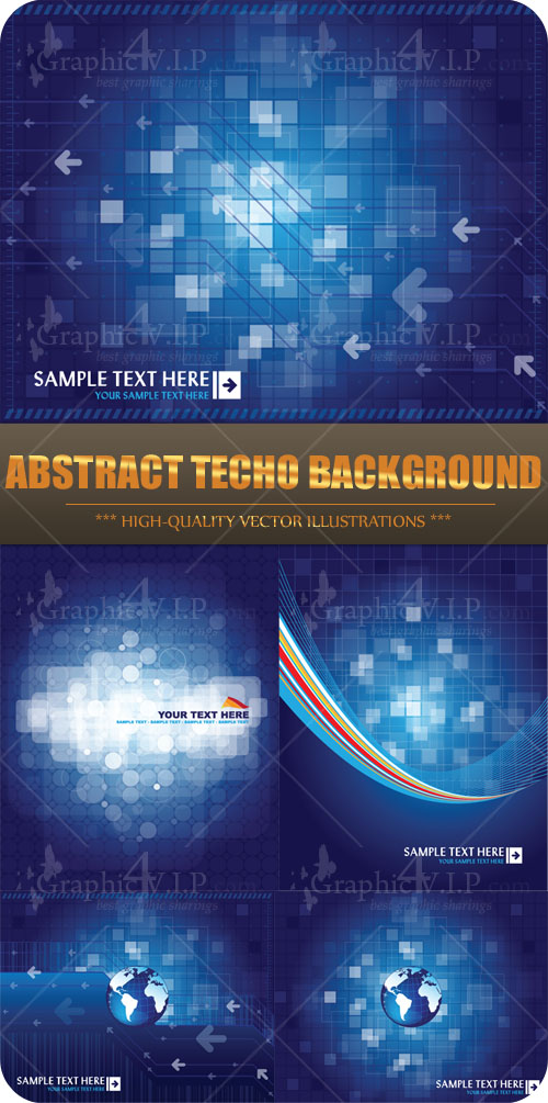 Abstract Techo Background - Stock Vectors