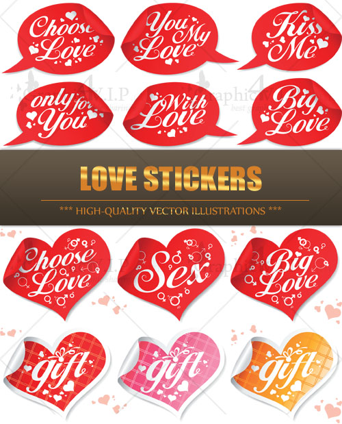 Love Stickers - Stock Vectors