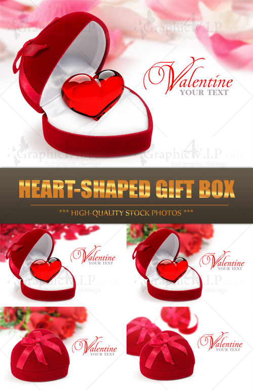 Heart-shaped Gift Box - Stock Photos
