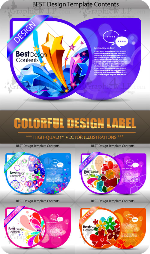 Colorful Design Label - Stock Vectors