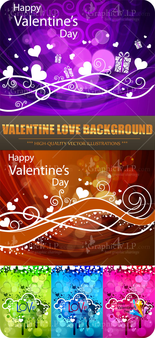 Valentine Love Background - Stock Vectors
