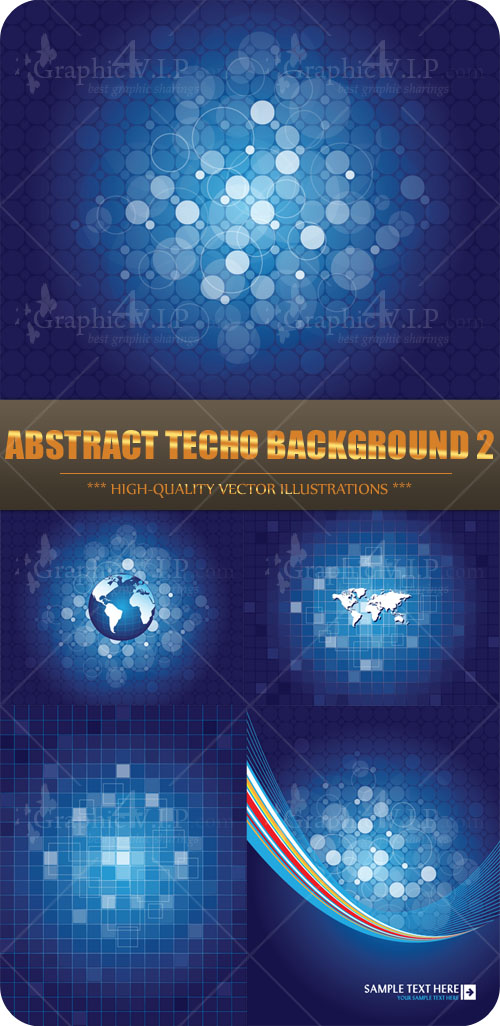 Abstract Techo Background 2 - Stock Vectors