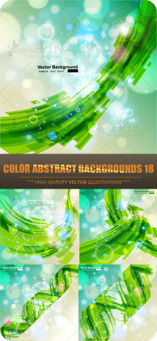 Color Abstract Backgrounds 18 - Stock Vectors