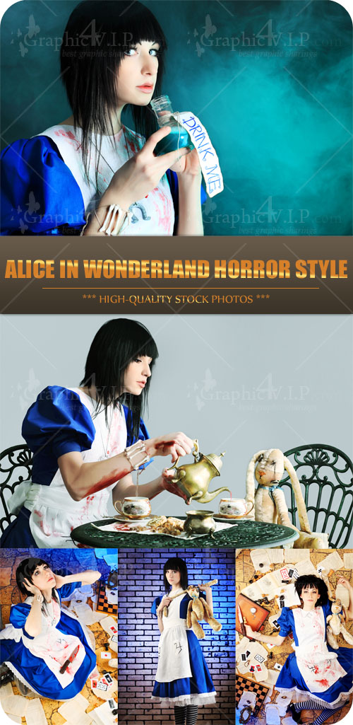 Alice in Wonderland Horror Style - Stock Photos