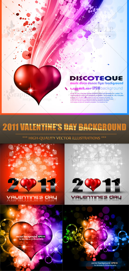 2011 Valentine's Day Background - Stock Vectors